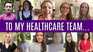 How could we ever thank our healthcare teams for all they do to keep our bodies fighting strong?! Please share this with your healthcare team to let them know they are loved!Subscribe to our channel → http://goo.gl/LvdRdF → We post new vlogs everyday showing daily life with Cystic Fibrosis!↓↓↓Watch more from The Frey Life↓↓↓What is Cystic Fibrosis → https://youtu.be/llrxGuU5o5cNew Here Playlist → https://goo.gl/EZgra7Draw My Life → https://youtu.be/jHYw-gQimwsService Dog Q&A → https://youtu.be/5Nh1fS1N9NQCystic Fibrosis Q&A → https://youtu.be/YDJ3yIS6SWIAre We Having Kids? → https://youtu.be/uHjEcXvn2ZUPeter's Channel → https://youtube.com/peterfreylifeSubscribe to our channel → http://goo.gl/LvdRdF → We post new vlogs everyday showing daily life with Cystic Fibrosis!Help us make these videos more accessible by contributing closed captions! → http://www.youtube.com/timedtext_cs_panel?tab=2&c=UCFJY0O-pkdXs6YuM5KW7r7gOUR CAMERASCanon G9X → http://amzn.to/1WhMLbnCanon 70D → http://amzn.to/1VHJmEfMavic Pro Drone → http://amzn.to/2ixXL4WFOLLOW US!Mary's Instagram → http://instagram.com/freylivingPeter's Instagram → http://instagram.com/peterfreylifeTwitter → http://twitter.com/thefreylifeGoogle+ → http://google.com/+thefreylifeFacebook → http://facebook.com/thefreylife