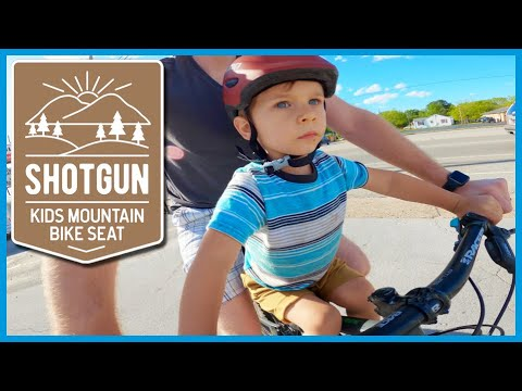 The BEST Kids Mountain Bike Seat // KIDS RIDE SHOTGUN // Review & Setup