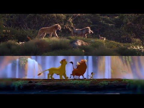 THE LION KING Trailer vs. Original - Side-By-Side Comparison