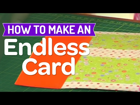 cards - Add a little magic to your crafting by creating an endless card using clever folding techniques! Corinne Bradd shows just how easy it really is - you'll be t...