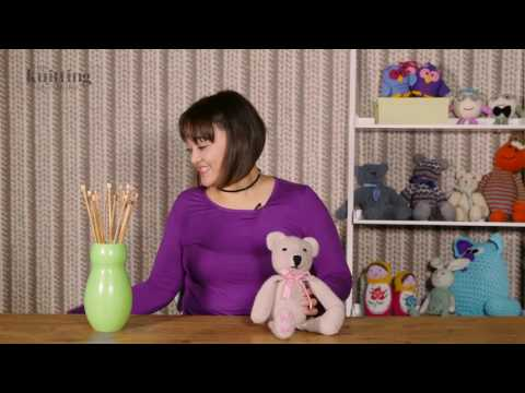 Teddy Bear With Scarf Knitting Pattern (The Knitting Network WTD058)