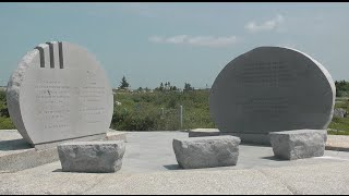Memorial to the 1998 aviation disaster, east of the crash site at The Whalesback, a promontory north of Peggy's Cove ...