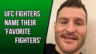 Video UFC Fighters tell their 'Favorite Fighters' MP3, 3GP, MP4, WEBM, AVI, FLV Mei 2019