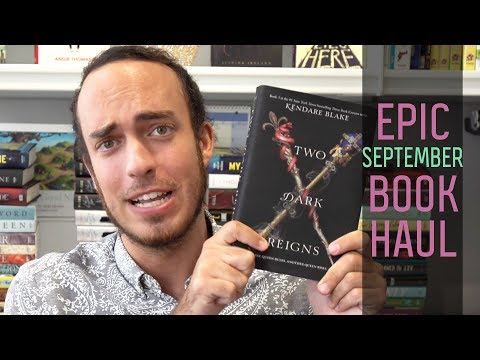 September 2018 Epic Book Haul | Two Dark Reigns, The Hate U Give, & More! | Epic Reads