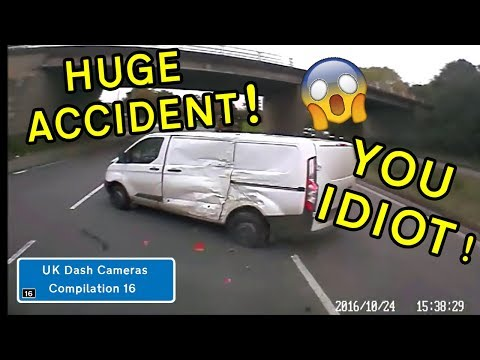UK Dash Cameras - Compilation 16 - 2018 Bad Drivers, Crashes  Close Calls