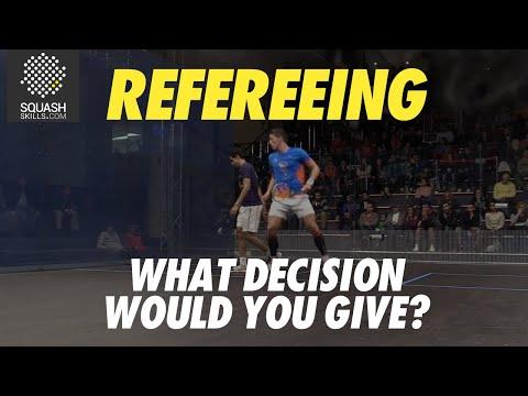 Squash Refereeing: Tarek Momen v Raphael Kandra - Yes let