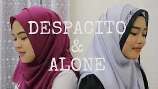 Video Despacito & Alone - Luis Fonsi, Daddy Yankee ft. Justin Bieber & Alan Walker (Sheryl & Eizaty cover) MP3, 3GP, MP4, WEBM, AVI, FLV Januari 2018