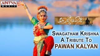 Video Swagatham Krishna   A Tribute To Pawan Kalyan   Agnyaathavaasi Songs   Anirudh Ravichander MP3, 3GP, MP4, WEBM, AVI, FLV April 2018