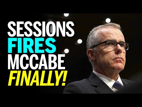 Jeff Sessions Fires FBI's Andrew McCabe 26 Hours Before Retirement Golden Parachute (REACTION) (видео)
