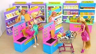 Video I ❤️ 2 Shop Barbie Deluxe Supermarket, Morning Ready for School boneka Barbie Supermercado MP3, 3GP, MP4, WEBM, AVI, FLV Juli 2018