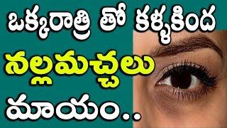 Get rid of under eyes dark circles overnight