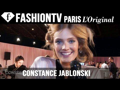 Constance Jablonski - http://www.FashionTV.com/live LONDON - We're backstage at the Victoria's Secret Fashion Show 2014-2015 with Victoria's Secret Angel Constance Jablonski! For ...