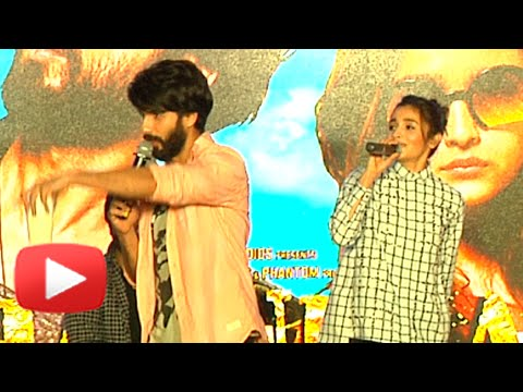 Shahid Kapoor Protects Alia Bhatt when Asked about