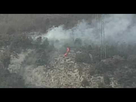 Incendio nei boschi della Tremezzina: grossa colonna di fumo