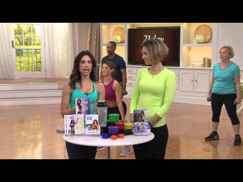 21 Day Fix Workout Plan with 2 DVD's 7 Workouts and Nutrition Plan with Kerstin Lindquist