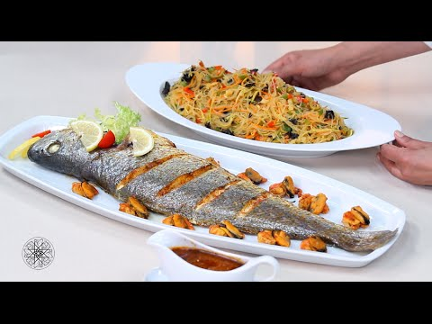 Choumicha : Poisson et Salade de vermicelle aux fruits de mer