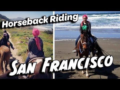 Horseback Riding on the Beach in San Francisco California   GoPro