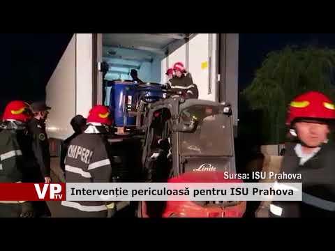 Intervenție periculoasă pentru ISU Prahova