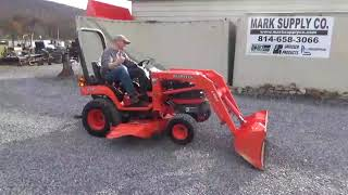 8. 2005 Kubota BX1830 Sub Compact Tractor With Loader And Belly Mower For Sale