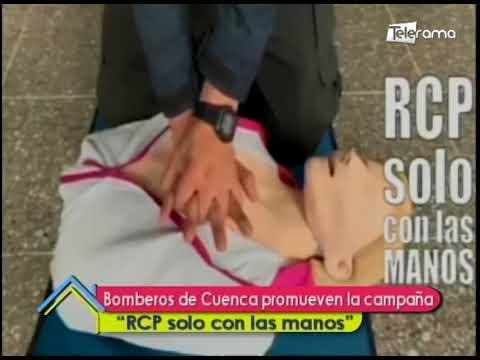 Bomberos de Cuenca promueven la campaña RCP solo con las manos