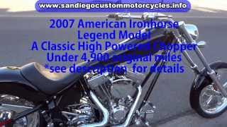 8. American Ironhorse for sale   2007 Legend Model