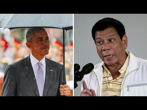 Μετανιωμένος για τις προσβολές κατά Ομπάμα ο πρόεδρος των Φιλιππίνων