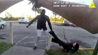 Никто не смеет таскать полицейского за ногу!
