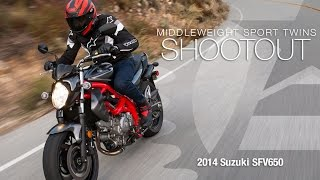 2. 2014 Suzuki SFV650 - Sport Twins Shootout Part 1  - MotoUSA