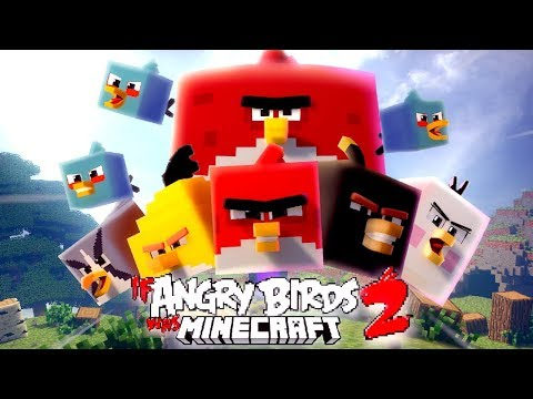 If Angry Birds Was Minecraft 2 [ Minecraft Animation ]