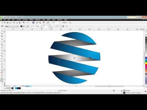 criando um logo rápido com coreldraw x6 hd coreldraw 3d