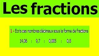 Maths 6ème - Fractions Exercice 5
