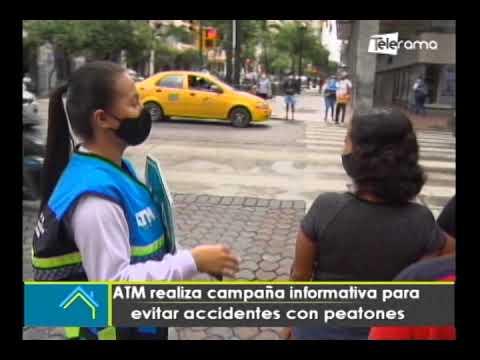ATM realiza campaña informativa para evitar accidentes con peatones