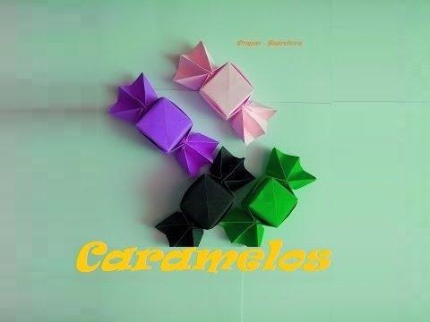 Как сделать из бумаги оригами конфету видео
