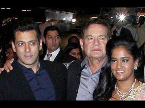 Salman Khan With Dad Salim Khan Sing For Arpita Kh