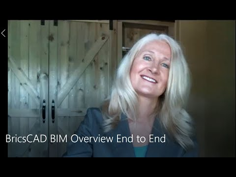 BricsCAD BIM - Workflow Overview with Heidi Hewett
