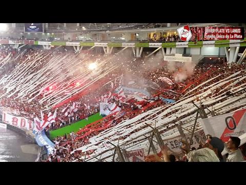 RECIBIMIENTO EN EL ESTADIO ÚNICO DE LA PLATA / River Plate vs Lanús / Supercopa 2016 - Los Borrachos del Tablón - River Plate