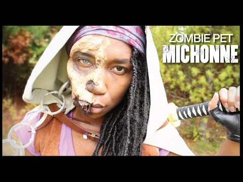 pet - HD ME!! I'm in 1080! Michonne + Jawless Zombie Pet. Need I say more!?... Aaaaah!! So freaking stoked guys! I've been wanting to make a Michonne Walking Dead Costume Cosplay for the longest!...