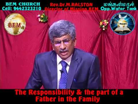 The responsibility and the part of a father in the family -Part-1