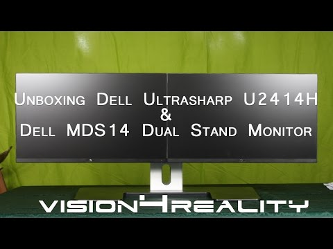 Unboxing Dell UltraSharp U2414H & Dell MDS14 Dual Stand Monitor
