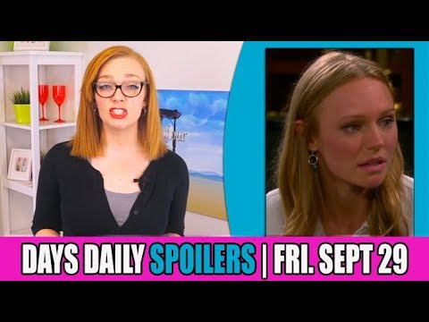 Days of Our Lives (DOOL) Daily Spoilers Update for Friday, September 29th