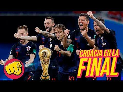 Histórico triunfo de CROACIA VS INGLATERRA, Croacia en la FINAL DEL MUNDIAL 2018