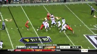 Geno Smith vs Clemson Orange Bowl