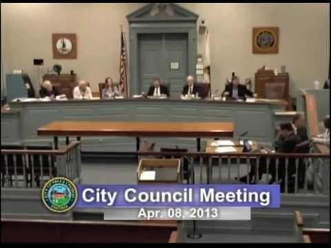 City Council Meeting, April 8, 2013