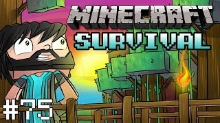Minecraft : Survival Let's Play - Part 75 - Prepping For Wither Skeleton Farm