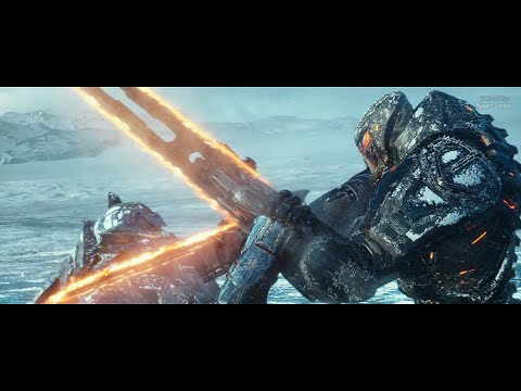 Pacific Rim: Uprising (2018) - Obsidian Fury vs Gipsy Avenger - Only action [4K]