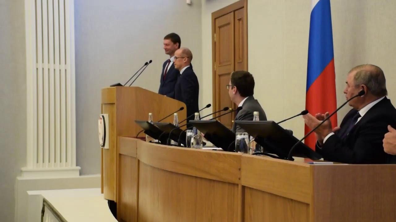Аппаратное совещание главы Удмуртской республики Александра Бречалова
