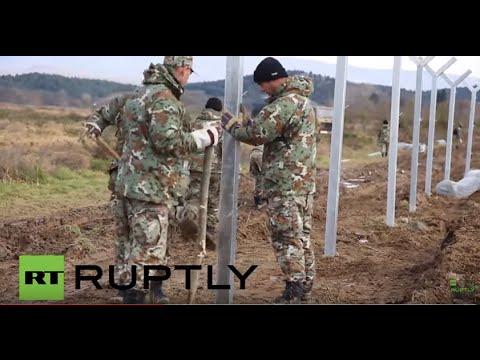 Video - 18 Σκοπιανοί αστυνομικοί τραυματίστηκαν στα επεισόδια της Ειδομένης