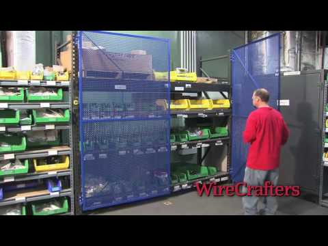 WireCrafters Secure Pallet Rack Enclosures