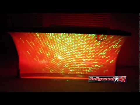 white table - Scrim King White Table 513-SS-TBL-02-W DEMO. Example with two Chauvet SlimPaR 64 and with the Chauvet Storm FX Laser. White scrim to cover your table. What a...