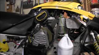 3. Skidoo Rev 800 motor pull part 1 Episode 5
